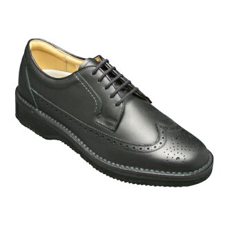 Soft and lightweight! Business shoes comfortable walking to produce 605 (wing tips), black fs3gm