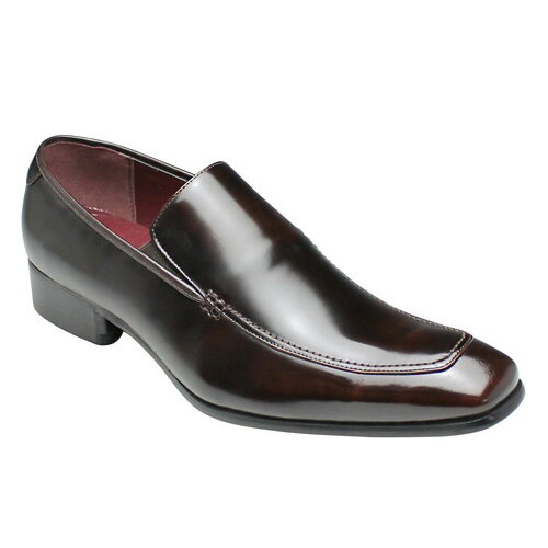 【SARABANDE(サラバンド)】ヨーロピアンエレガンス漂う牛革ロングノーズビジネスシューズ(スリッポン)・SB7774(ダークブラウン)/メンズ 靴