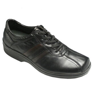 Removable inner zip is easy! 4 E wide and horse leather sneakers-SP7701 (black) fs3gm