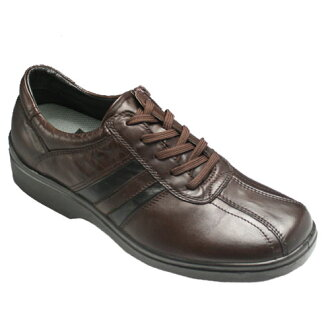 Removable inner zip is easy! 4 E wide and horse leather sneakers, fs3gm SP7701 (dark brown)