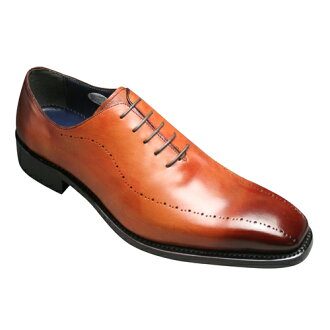 [Via madras] cowhide dress shoes (hall cut medallion), VS306( red) of the Goodyear welt manufacturing method