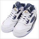 ナイキ NIKE AIR JORDAN 5 LOW RETRO エアジョーダン スニーカー シューズ WHITE/METALLIC GOLD STARMIDNIGHT NAVY 819171135 591002021290