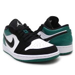 ナイキ NIKE AIR JORDAN 1 LOW エア ジョーダン WHITE/BLACK-MYSTIC GREEN メンズ 553558-113 191015000290 191015143290