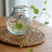 一輪挿し ガラス おしゃれ 花瓶 小さい フラワーベース ミニ 丸型 シンプル 北欧 アジアン 雑貨 【 バリガラス ミニ フラワーベース B 】