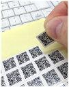 送料無料 名刺用QRコードシール15mm角180枚セット 自由文字列 通常メール便発送 QRコード