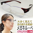 【あす楽】目が疲れない!施術が楽になる 拡大鏡 眼鏡 ルーペ 1.6倍 まつげエクステ ネイル 施術用 / T001
