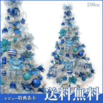 斯堪的納維亞的聖誕樹 210 釐米聖誕樹飾品與藍色耶誕節樹大套家居裝飾品 2015年裝飾光纖迷你超薄 LED 燈帶領存儲存儲為聖誕樹 05P07Nov15 家的花園