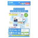 写真が最も映えるインクジェットフォト光沢名刺カード(角丸) JP-MCMARUGK サンワサプライ【