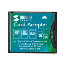 SDXCカード用CF変換アダプタ ADR-SDCF2 サンワサプライ【ネコポス対応】