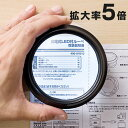 拡大鏡 5倍 ルーペ LEDライト付 電池不要・USB充電  EZ4-LPE013【送料無料】