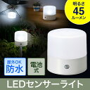 LEDセンサーライト(屋外・防水・ガーデン・吊り下げ・置き型・フット・防犯・キャンプ・電池) EEX-LEDSR11