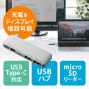 MacBook専用USB PD対応USB3.1Type Cハブ(Mini DisplayPort変換・充電機能付・USB2.0ハブ/2ポート・microSDスロット付) EZ4-ADR307SP..