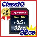 Transcend SDHCメモリカード(32GB・class10)