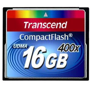 Transcend コンパクトフラッシュカード(16GB・400倍速) TS16GCF400【送料無料】