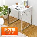 ワークデスク(パソコンデスク・鏡面仕上・60cm幅・ホワイト)【送料無料】