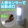LEDセンサーライト 人感 AC充電式 懐中電灯 LED14灯 明暗センサー 非常時 EEX-LSL2302