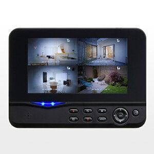 防犯カメラ&モニターセット(ワイヤレス・4台カメラセット・屋外・防水カメラ・SDカード&USBメモリ録画対応)