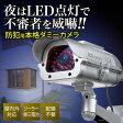 ダミーカメラ ソーラー充電 ダミー防犯カメラ 屋内 屋外対応 ソーラーパネル搭載