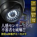 【在庫処分SALE】ダミーカメラ センサーライト ダミー防犯カメラ 人感センサー内蔵 室内 屋内用