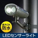 LEDセンサーライト(屋外・ソーラー・充電・防水・防雨・明るい・強力) EEX-LEDSR02【送料