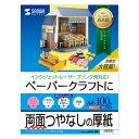 ペーパークラフト用紙 (厚手 両面つやなし A4 100枚) JP-EM1NA4N-100 サンワサプライ
