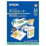 【エプソン純正用紙】スーパーファイン専用ラベルシート(A4、10枚)