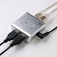 USBハブ付手動切替器