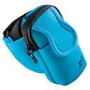 iPod MP3プレーヤーを腕に装着してアクティブに楽しめるアームバンドスポーツケース (ブルー) PDA-MP3C5BL サンワサプライ