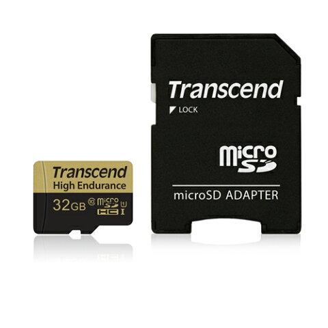 Transcend microSDHCカード 32GB Class10 高耐久 ドライブレコーダー向け SDカード変換アダプタ付 TS32GUSDHC10V【ネコポス対応】【送料無料】