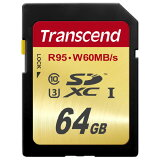 SDXCカード 64GB Class10 UHS-I U3対応 Transcend社製 U3シリーズ【ネコポス対応】【送料無料】