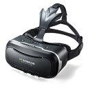 3D VRゴーグル(コントローラー付き・iPhone/Android対応・VR SHINECON・VRゴーグル・スマートフォン・Bluetoothコントローラー) 400-MEDIVR2SET