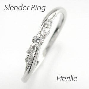 ダイヤモンド リング ダイヤリング スレンダー シンプル プラチナ900 pt900 指輪 【送料無料】【コンビニ受取対応商品】 ダイヤモンド リング シンプルリング スレンダー