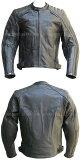 【Clooney】J01 メンズ レザージャケット 本革 【牛革】革ジャン ライダース カウハイド シングル 皮ジャン