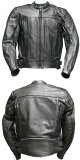【Clooney】J03 本革 牛革レザージャケット メンズ 革ジャン シングルライダース バイク 皮ジャン 黒