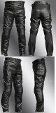 【Clooney】P08 本革 カウハイド レザーパンツ 【牛革】 ブーツアウト メンズ