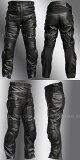 【Clooney】P09 本革 カウハイド レザーパンツ(牛革) ブーツアウト バンクセンサー付 メンズ