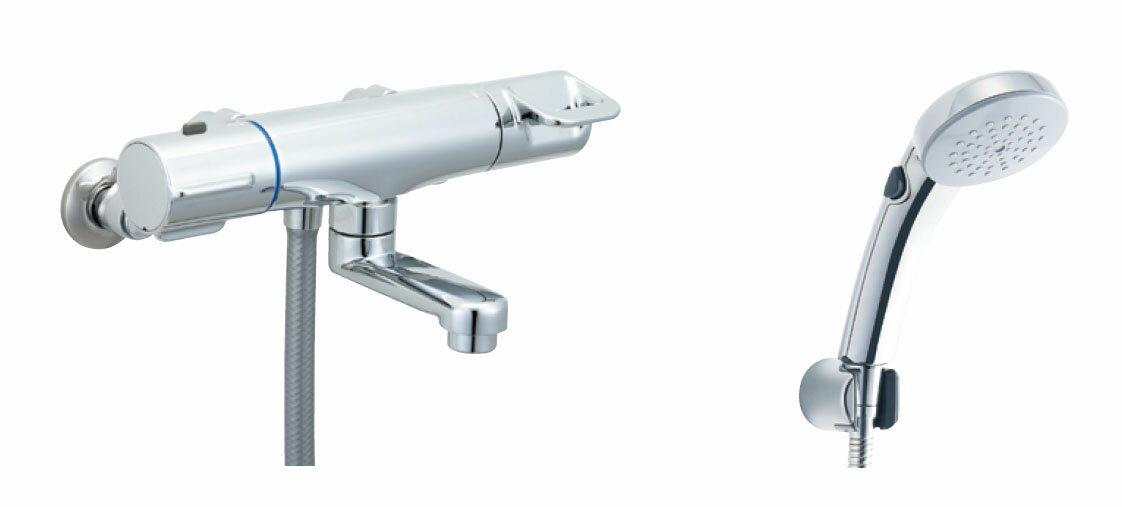 LIXIL 【INAX】 シャワーバス水栓サーモスタット付シャワーバス水栓エコフルスプレーシャワー(メッキ仕様)BF-HB147TSC
