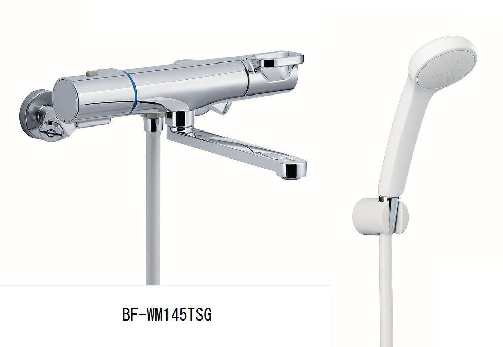 LIXIL 【INAX】 浴室用水栓金具 壁付タイプサーモスタット付シャワーバス水栓大きめのシャワーヘッドBF-WM145TSG