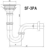 INAX流し用壁排水Pトラップ(バスケット形)SF-3PA