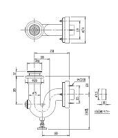INAX掃除流し用壁排水PトラップSF-20PA-P