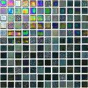 【名古屋モザイク】 ONIX GLASS MOSAICオニックスガラスモザイク24角OV-T2556