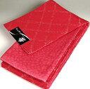 ショッピング訳アリ 半幅帯 長尺浴衣帯 難訳あり 菱×桜 赤レッド 半巾帯 ゆかた帯 小袋帯 両面帯