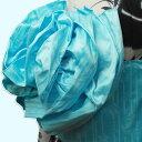 作り帯 浴衣帯 兵児帯 フラワー結び帯 ボーダー桜/スカイ