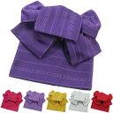 作り帯 七宝献上浴衣帯 両面小袋半幅帯 つばめ結び帯 送料無...