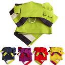作り帯 浴衣帯 両面半幅帯 無地/ストライプ 5色 つばめ結び帯 送料無料