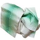 作り帯 浴衣帯 両面小袋半幅帯 緑ぼかし