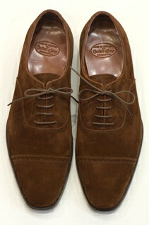 Crockett & Jones Handgrade Belgrave Brown Suede: Crockett & Jones Belgrave hand grade (brown suede)