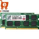 【送料無料】トランセンド JM1600KSH-16GK [DDR3-1600 SO-DIMM CL11 Dual Channel Kit 8GB x2]【ノート...