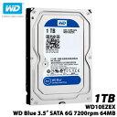 【送料無料】ウエスタンデジタル WD10EZEX [WD Blue(1TB 3.5インチ SATA 6G 7200rpm 64MB)]