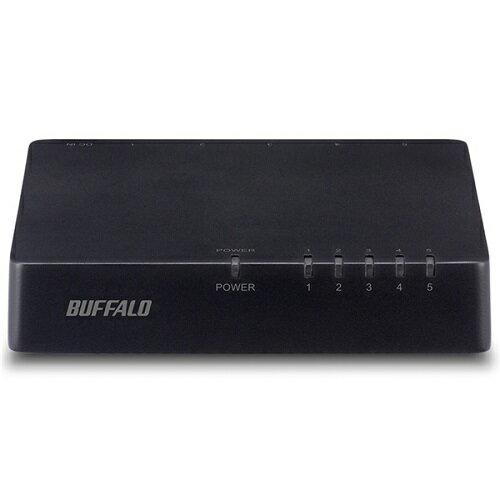 バッファロー LSW4-TX-5EPL/BKD [10/100Mスイッチ プラ/電源外付 5ポート ブラック]